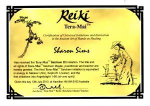 Reiki III Master Teacher July2013